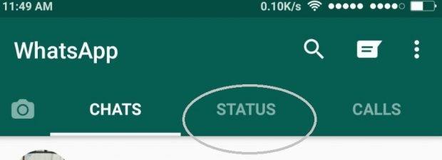 WhatsApp's new status feature