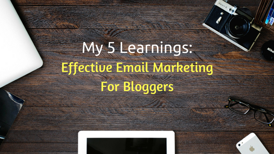effective email marketing for bloggers